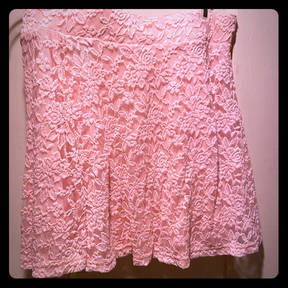 Rue21 Dresses & Skirts - Pink Lace Rue 21 mini skirt